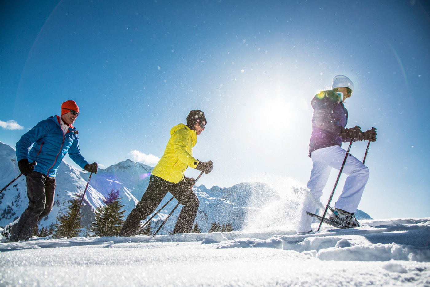 Schneeschuhwandern in Lech (Bild: Lech Zürs Tourismus, Christoph Schöch)