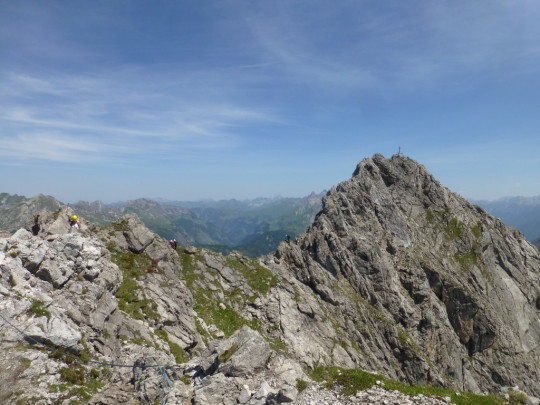 Karhorn Klettersteig Westgrat