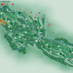 Golfclub Brand Platz-Karte