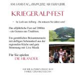 Flyer Kriegeralp-Fest