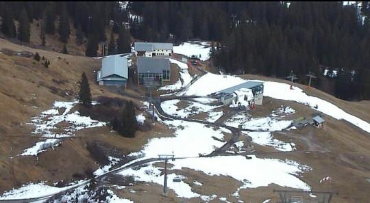 Kriegerhornbahn am Arlberg. Livebild der Webcam vom 27.11.2012