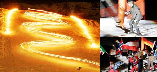 Fackellauf der Skischule Zürs