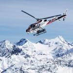 Helikopter über dem Arlberg