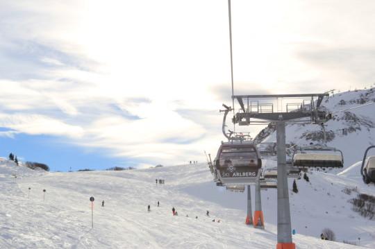 ski resort ski arlberg, lech, austria