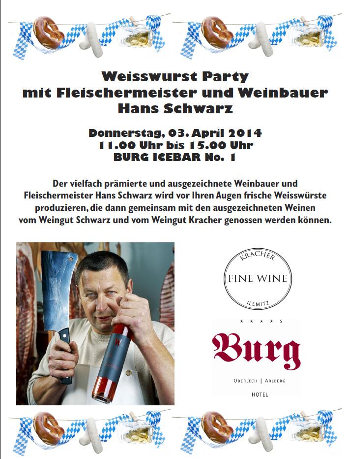 Weisswurst Party in der BURG ICEBAR Lech / Oberlech am Arlberg