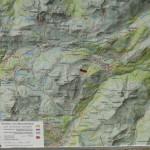 Karte vom Wandergebiet Lech-Warth-Schröcken