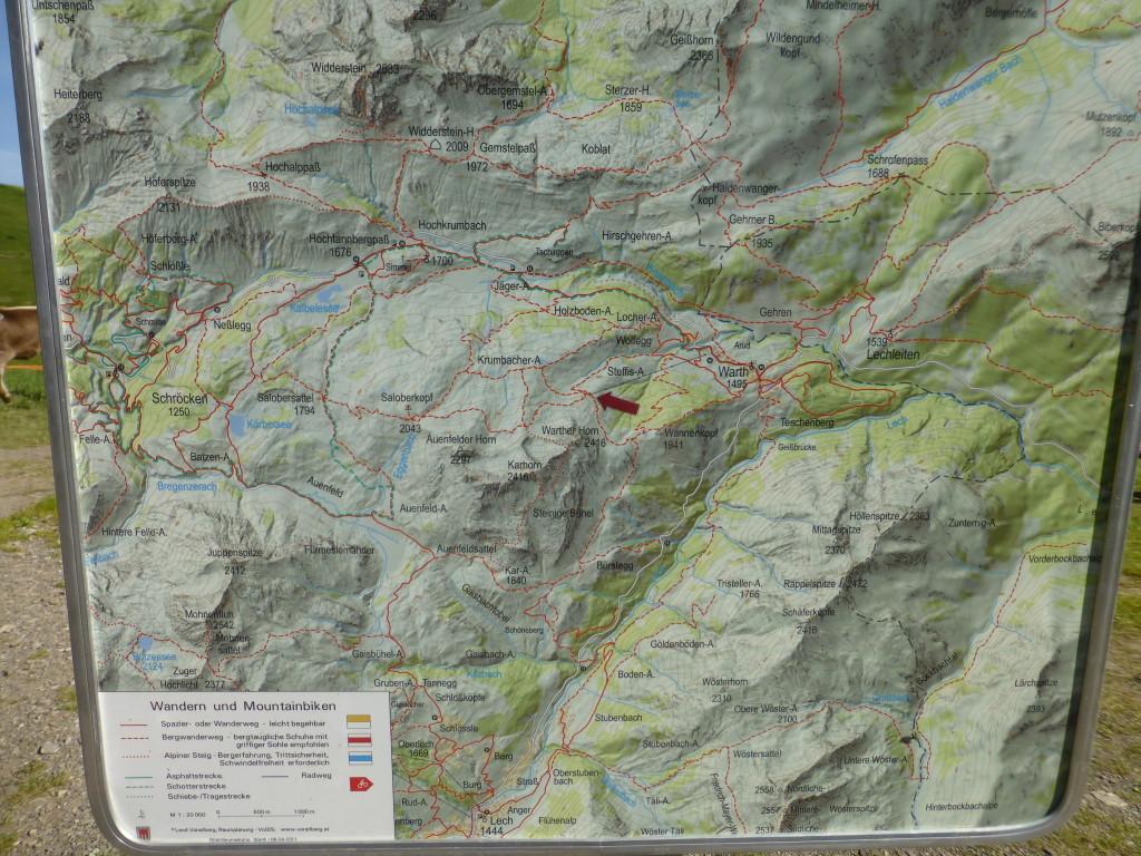 Klettersteig Karte : Karhorn klettersteig warth am arlberg bregenzerwald