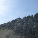 Erster Teil des Karhorn Klettersteigs