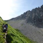 Weg hinter dem Warther Horn zum Karhorn-Einstieg