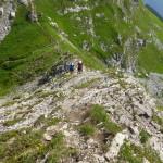 Die ersten Meter des Karhorn Klettersteigs