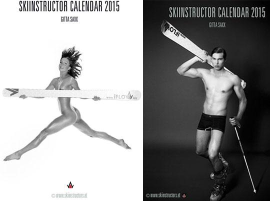 Skilehrer- & Skilehrerinnen Kalender 2015 by Gitta Saxx