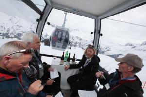 Weingondeln am Arlberg: Freitag, 31. März 2017