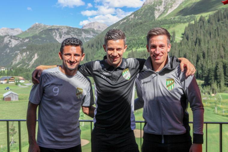 Fussballclub Austria Lustenau in Lech am Arlberg im Trainingslager 2017