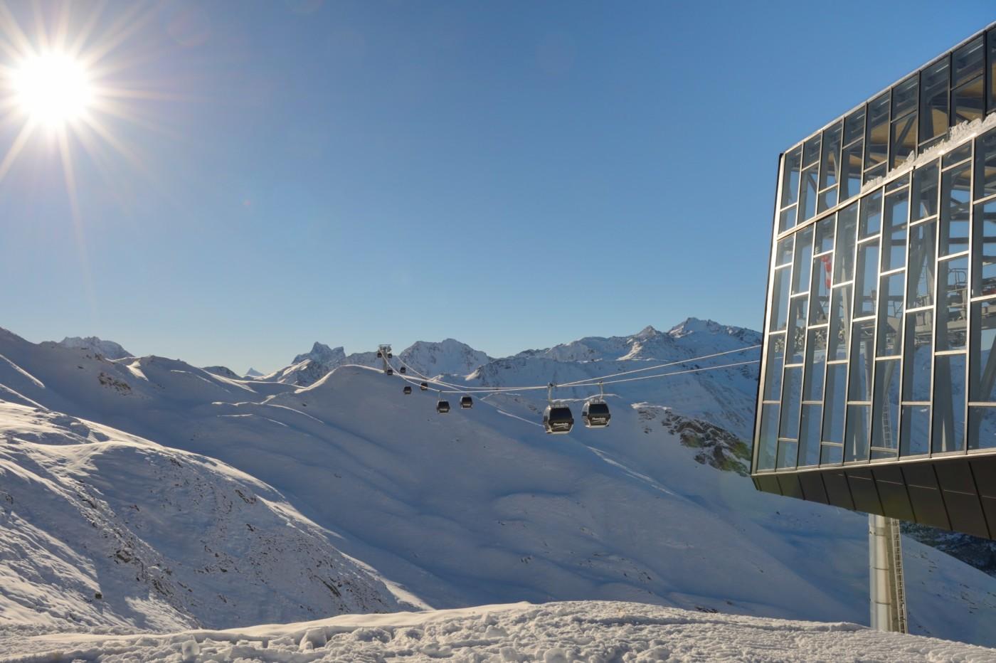 Flexenbahn im Skigebiet Lech Zürs am Arlberg