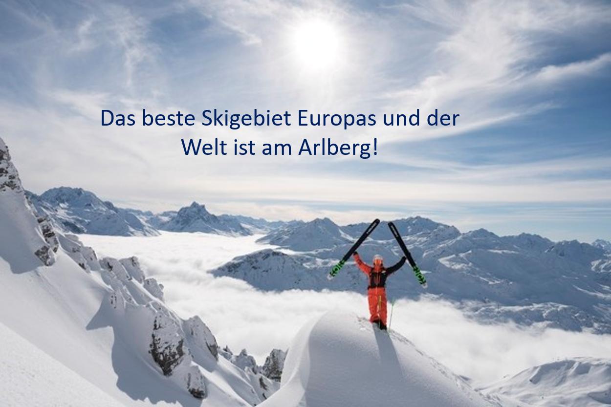 Skigebiet Arlberg, bestes in Europa 2018